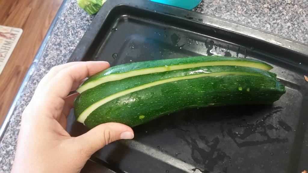 Medium Zucchini, Sliced Lengthwise