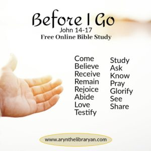 Jesus hand reaching out: Before I Go study topics
