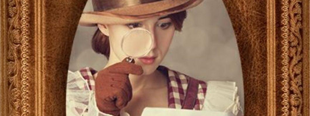 glasslg magnifyingyfingam aa throughht lookingni lookingool GirllriG