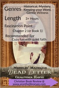 Dead Letter Book cover, ratings: historical fiction, keeping your word, 3+hours fascinated by Chapter 2, cozy