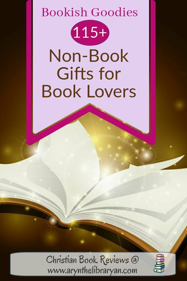 Bookish Goodies: 115 non-book gifts for book lovers, open Book floating with magic dust sparkles