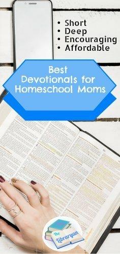 Desk and Bible, Best Devotionals for homeschool moms