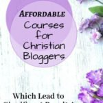 purple flowers: Best Affordable courses for Christian Bloggers