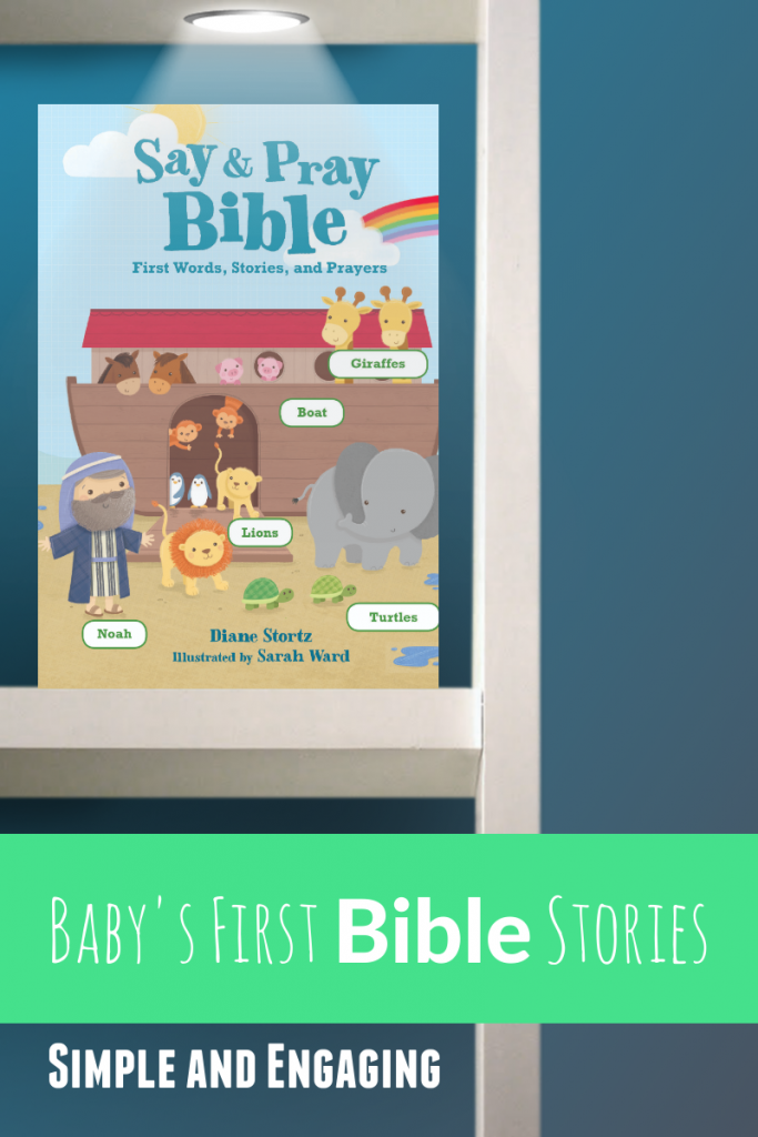Say and Pray Bible on a Bookshelf: Baby first Bible stories