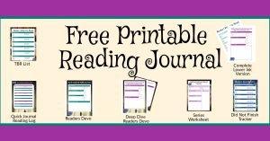 Free Printable Reading Journal