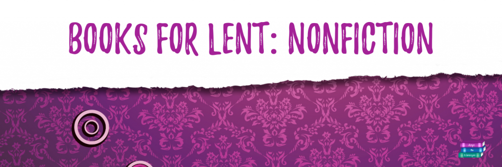 Books for Lent: Nonfiction: White and Purple design