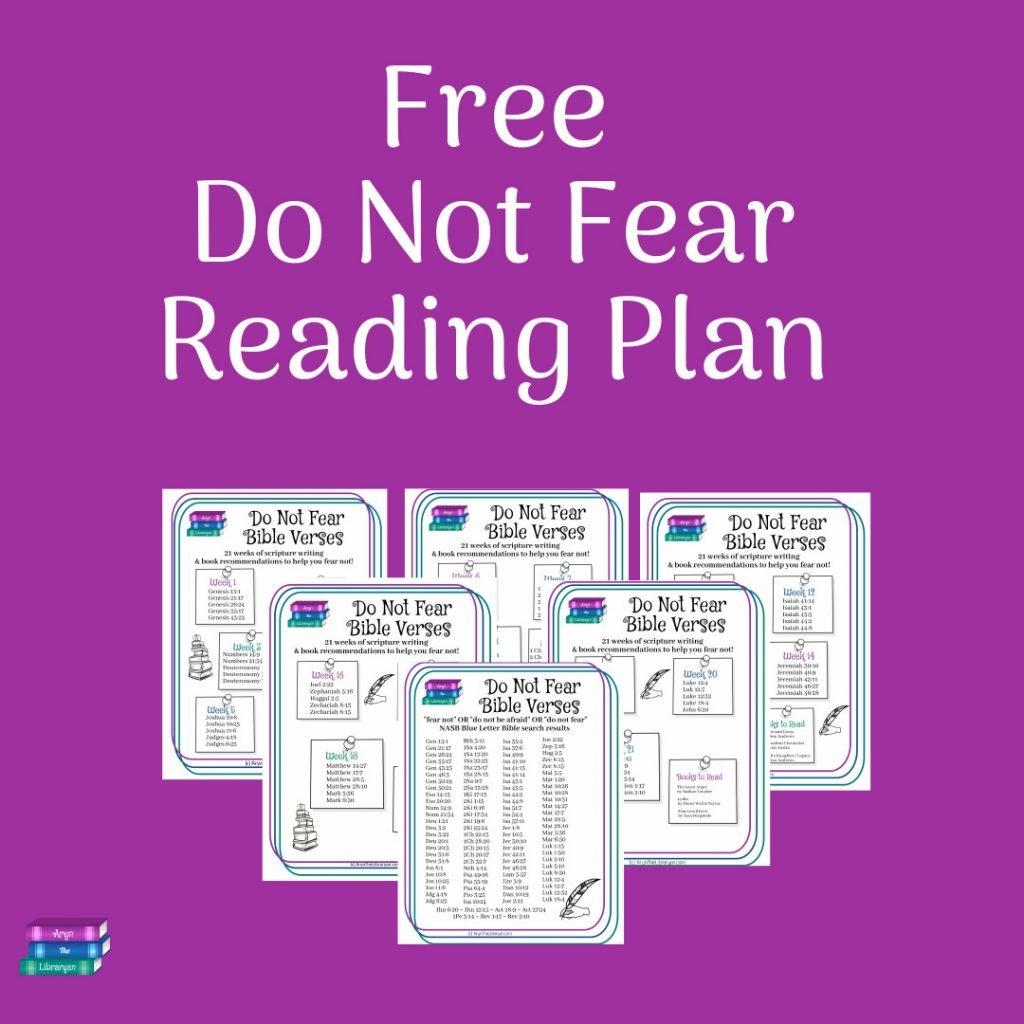 Purple background, Free Do Not Fear Reading Plan